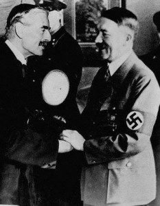 Meeting of Chamberlain and Hitler