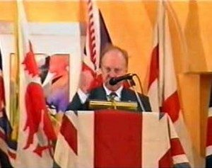 John Tyndall adresses the 1998 BNP Conference
